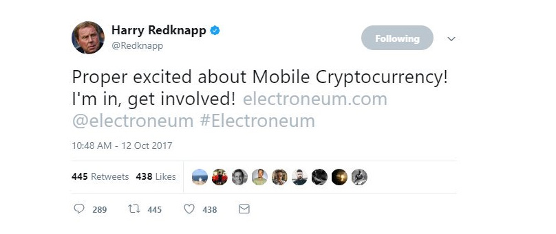 Harry Redknapp Cryptocurrency